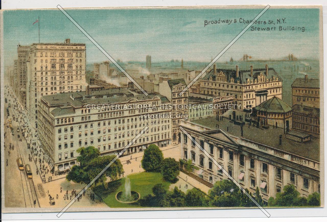 Broadway & Chambers St., N.Y. Stewart Building