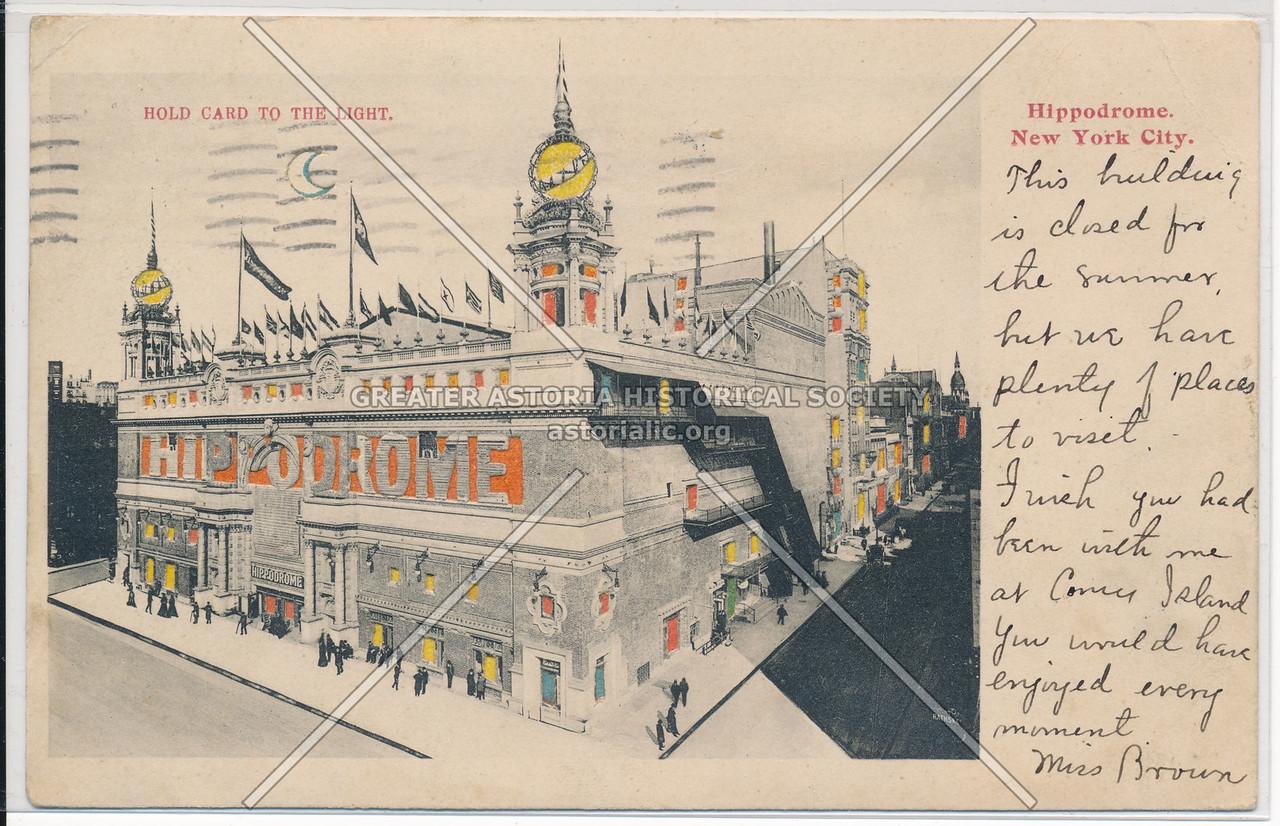 Hippodrome, NYC.