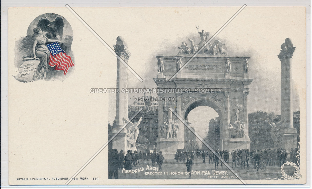 Memorial Arch, Erected In Honor Of Admiral Dewey, Fifth Ave., N.Y.