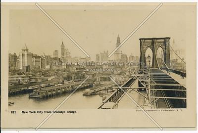 New York City from Brooklyn Bridge.