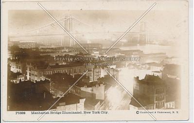 Manhattan Bridge Illuminated, NYC