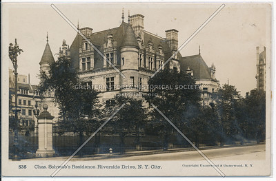 Chas. Schwab's Residence. Riverside Drive, NYC