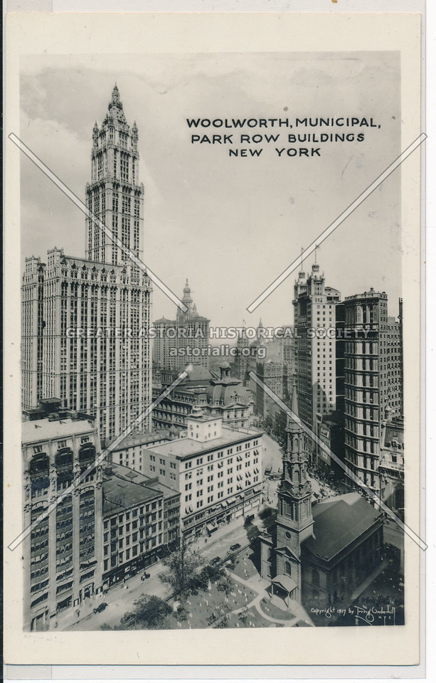 Woolworth, Municipal, Park Row Buildings, NYC