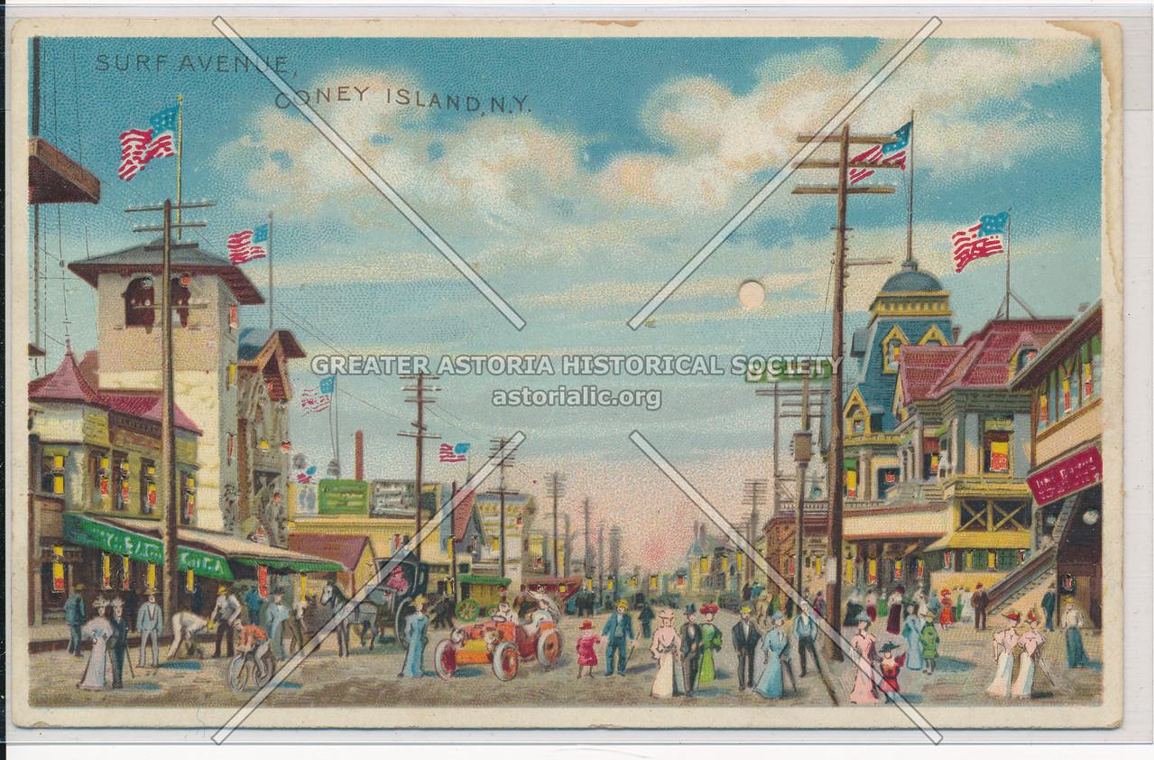 Surf Avenue, Coney Island, Bklyn