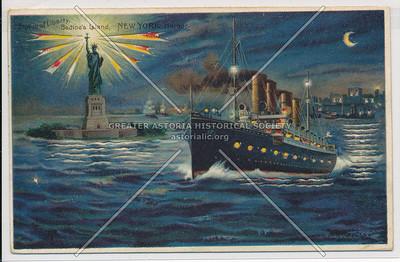 Statue of Liberty, Bedloe's Island, New York Harbor.