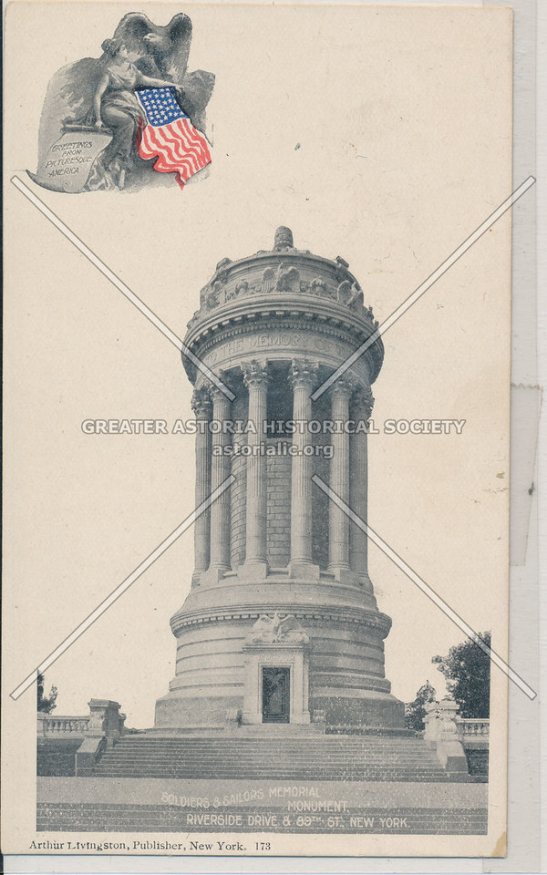 Soldiers & Sailors Memorial Monument, Riverside Drive & 89th St., New York