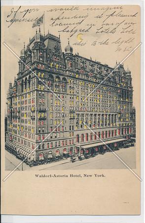 Waldorf- Astoria Hotel, NYC