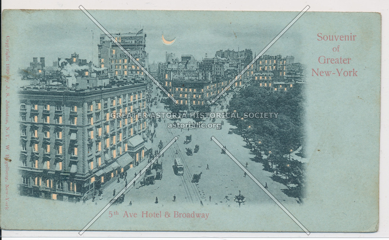 Souvenir of Greater New-York, 5th Ave Hotel & Broadway