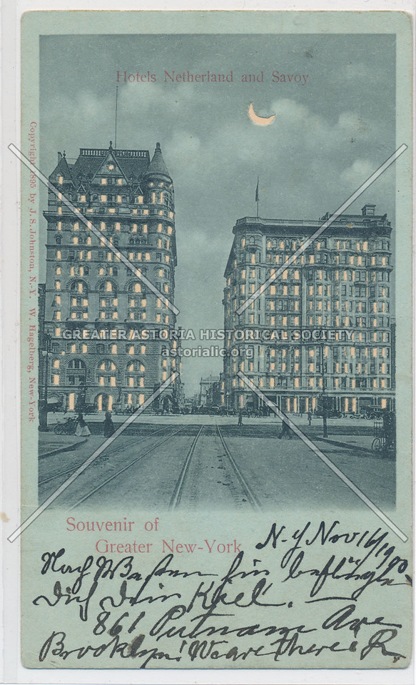 Souvenir of Greater New-York, Hotels Netherland and Savoy
