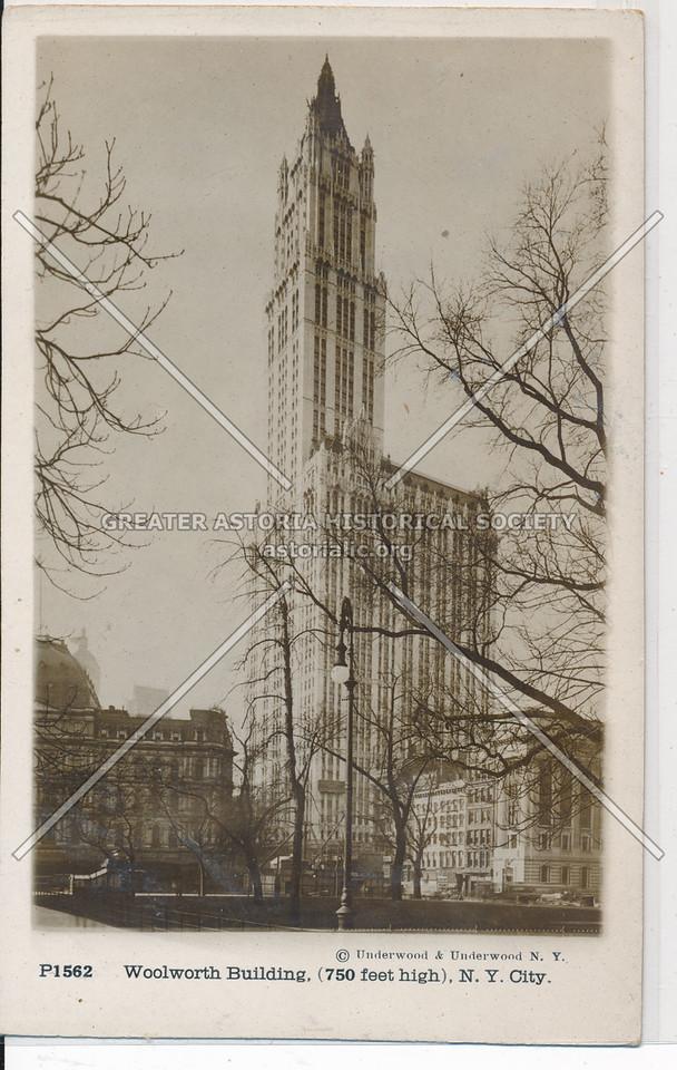 Woolworth Building, (750 feet high), NYC