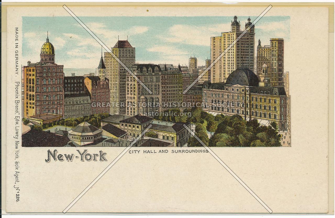 City Hall & Surroundings, NYC