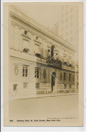 Century Club, W. 43rd Street, NYC