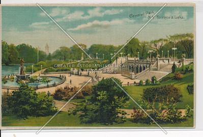 Central Park, N.Y. Terrace & Lake.