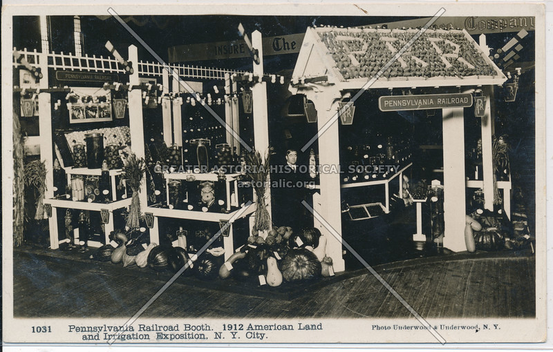 Pennsylvania Railroad Booth. 1912 American Land and Irrigation Exposition, NYC