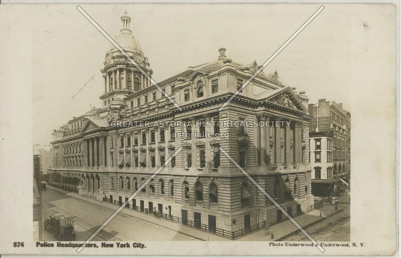 Police Headquarters, New York City.
