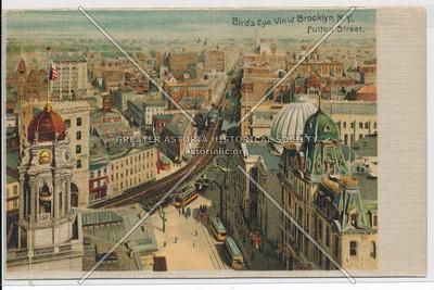 Bird's Eye View Brooklyn, N.Y., Fulton Street.