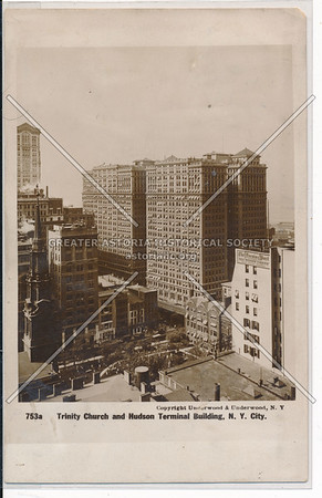 Trinity Church and Hudson Terminal Building, NYC