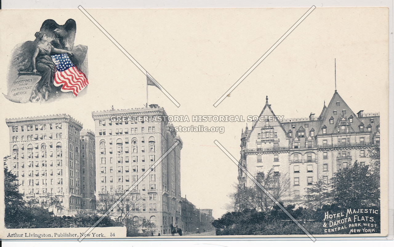 Hotel Majestic & Dakota Flats, Central Park West, New York