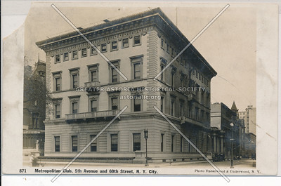 Metropolitan Club, 5th Avenue and 60th Street, NYC.