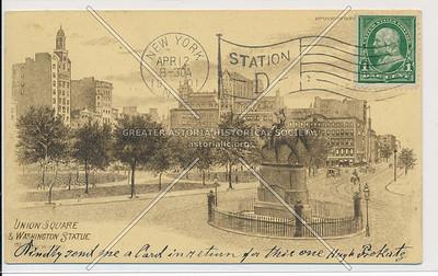 Union Sq & Washington Statue, NYC