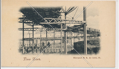 Elevated Railroad, 110 St, NYC