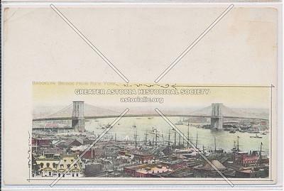 The Brooklyn Bridge from New York City