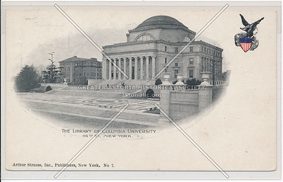 The library of Columbia University, 116th St., NYC