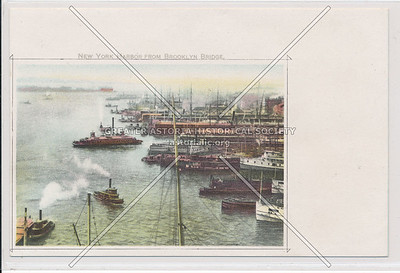 New York Harbor from Brooklyn Bridge, NYC