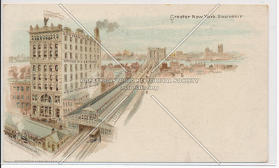 Brooklyn Bridge and Surrounding Rail Roads, NYC