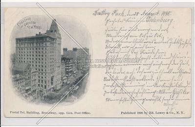 Postal Telegraph Building, nr Post Office on B'way, NYC