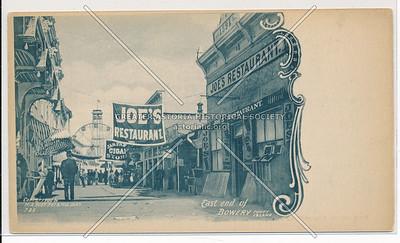 East End of Bowery, Coney Island, Bklyn