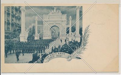 The Navy Arch, Ohio Regt, Dewey Parade, NYC