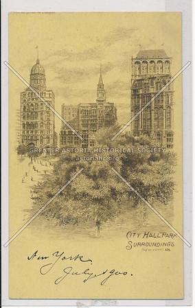 City Hall Park Surroundings, NYC