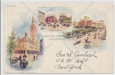 Madison Square Garden, Madison Square, and Union Square, NYC