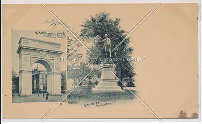 Washington Arch & Lafayette Statue, NYC