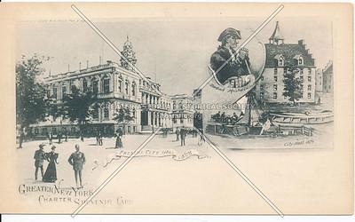 City Halls, NYC (1898 & 1679)