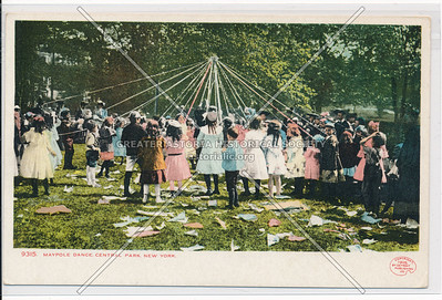 Maypole Dancing in Central Park