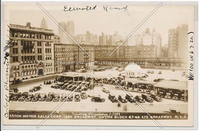 Astor Motor Sales, entire block, 67-68 St & Bway, NYC