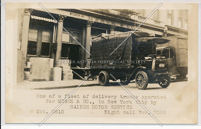 Haines Truck for Merck & Co, 75 University Pl, NYC