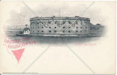 Greater New York Charter Souvenir Card - Castle Williams