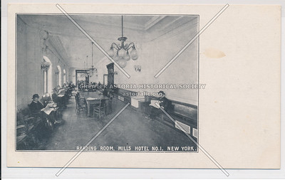 Reading Room, Mills Hotel #1 - Bleecker, Sullivan & Thompson, NYC