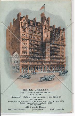 Hotel Chelsea, W 23 St at 7 Av, NYC