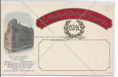 The Waldorf-Astoria Segar Co., New York City