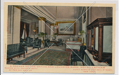A Corner of the Office & Lounging Room, Hotel Latham, 5th Ave & 26th St, NY