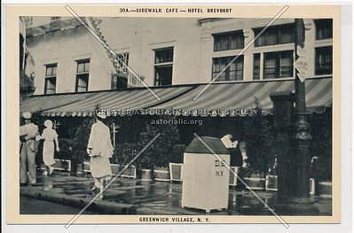 Sidewalk Café, Hotel Brevoort, 5 Av & 8 St, NYC