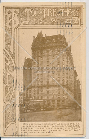 Hotel Martinique, B'way, 32nd and 33rd Sts., New York City