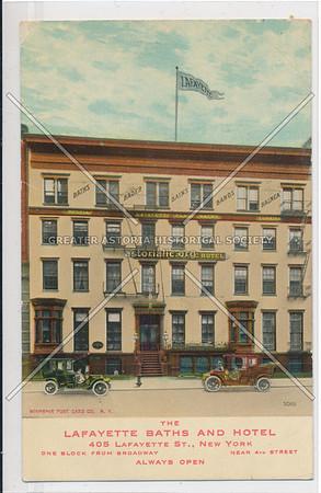 Lafayette Baths & Hotel, 405 Lafayette St, NYC