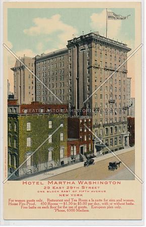 Hotel Martha Washington, 29 E 29th St., One Block E of 5th Ave., NY