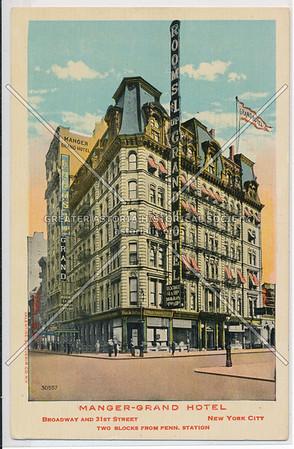 Manger-Grand Hotel, Broadway and 31st Street, New York City