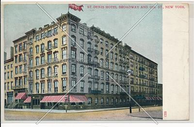 St Denis Hotel, B'way & 11 St, NYC
